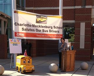 ... of CMS welcomes a large crowd to honor Gus The Bus' 30th birthday