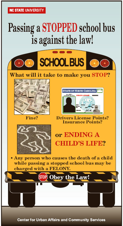 get awareness on back of bus poster